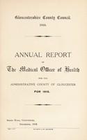 view [Report 1915] / Medical Officer of Health, Gloucestershire County Council.