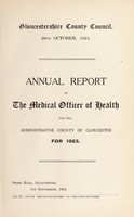 view [Report 1923] / Medical Officer of Health, Gloucestershire County Council.