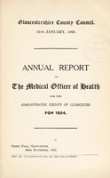 view [Report 1924] / Medical Officer of Health, Gloucestershire County Council.