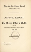 view [Report 1928] / Medical Officer of Health, Gloucestershire County Council.