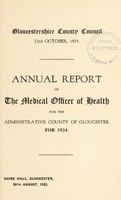 view [Report 1934] / Medical Officer of Health, Gloucestershire County Council.
