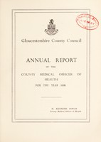 view [Report 1938] / Medical Officer of Health, Gloucestershire County Council.