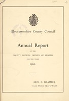 view [Report 1960] / Medical Officer of Health, Gloucestershire County Council.