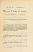 view [Report 1896] / Medical Officer of Health, Godstone R.D.C.