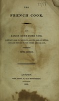 view The French cook / [Louis Eustache Ude].