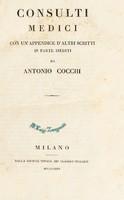 view Consulti medici. Con un'appendice d'altri scritti in parte inediti / [Antonio Cocchi].