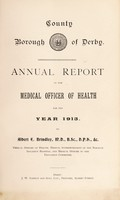 view [Report 1913] / Medical Officer of Health, Derby County Borough.
