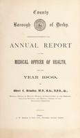 view [Report 1909] / Medical Officer of Health, Derby County Borough.