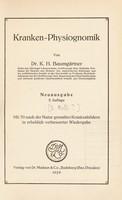 view Kranken-Physiognomik / von K. H. Baumgärtner.
