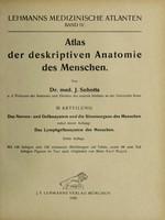 view Atlas der deskriptiven Anatomie des Menschen / von J. Sobotta.