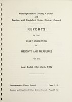 view [Report 1972] / Chief Inspector of Weights and Measures, Nottinghamshire County Council and Beeston & Stapleford U.D.C.