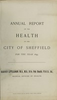 view [Report 1893] / Medical Officer of Health, Sheffield City.