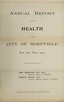 view [Report 1903] / Medical Officer of Health, Sheffield City.