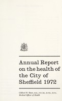view [Report 1972] / Medical Officer of Health, Sheffield City.