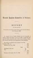 view Report of the Committee of Visitors of the Lunatic Asylum for the Borough of Birmingham as presented to the Town Council, being their twelfth annual report : together with the reports of the Medical Superintendent and Chaplain also an account of the receipts & payments to the end of the year 1862 / Birmingham Borough Lunatic Asylum.