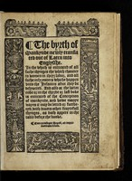 view The byrth of mankynde, newly translated out of Laten into Englysshe. : In the which is entreated of all suche thynges the which chaunce to women in theyr labor, and all suche infyrmitees whiche happen vnto the infantes after they be delyuered. And also at the latter ende o in the thyrde or last boke is entreated of the conception of mankynde, and howe manye wayes it may be letted or furtheryd, with diuers other fruytefull thynges, as doth appere in the table before the booke.