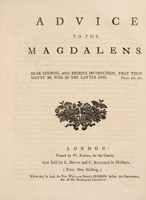 view The rules, orders and regulations, of the Magdalen House, for the reception of penitent prostitutes.