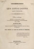 view Considérations sur les convulsions dans l'enfance / [Hector Boze].
