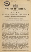 view Opium in China / extracted from China; political, commercial, and social.
