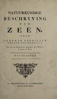 view Natuurkundige beschryving der zeën / Door Lodewyk Ferdinand Graave van Marsilli ... Lid van de Koninglyke Academie der Weetenschappen te Parys. Met plaaten.