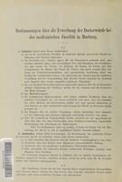 view Bestimmungen über die Erwerbung der Doctorwürde bei der medicinischen Facultät in Marburg.