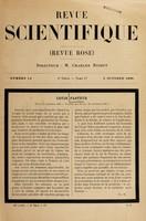 view Louis Pasteur (Dôle, 27 décembre 1822--Villeneuve-L'Étang, 28 septebre 1895 / Ch. R. Biographiques scientifiques : Pasteur / par Renan. L'œuvre de M. Pasteur.
