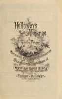 view Holloway's almanac & family friend [1890] : containing much useful information also descriptive illustration of British song birds / Thomas Holloway ; [illustrated by A. Pernet].