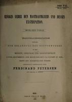 view Einiges über den Mastdarmkrebs und dessen Exsitparion : sechs neue Faelle / Ferdinand Petersen.