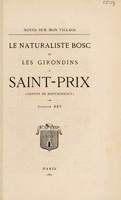 view Le naturaliste Bosc et les Girondins à Saint-Prix / [Auguste Rey].