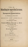 view Ueber die Behandlung der inoperablen Carcinome ... / Georg Sander.