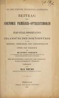 view Beitrag zur Anatomie primärer Optikustumoren ... / vorgelegt von Max Thumm.