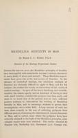 view Mendelian heredity in man / by C.C. Hurst.