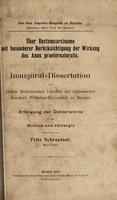 view Über Rectumcarcinome, mit besonderer Berücksichtigung der Wirkung des Anus praeternaturalis ... / vorgelegt von Fritz Schrautzer.