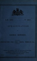 view Specification of George Dewdney : protector for the chest, throat, &c.