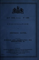 view Specification of Ebenezer Oliver : mixture and embrocation for rheumatism, &c.