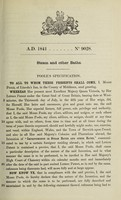 view Specification of Moses Poole : steam and other baths.