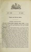 view Specification of Pierre Jacques Ferier : vapour and hot-air baths.