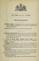 view Specification of Louis Lefebvre : vapour-bath apparatus.