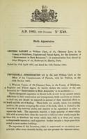 view Specification of William Clark : bath apparatus.