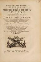 view Dissertatio medica inauguralis de morbis fibrae debilis et laxae ... / Eruditorum examini submittit Daniel Meadows.