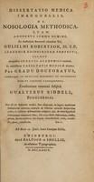 view Dissertatio medica inauguralis de nosologia methodica ... / [Walter Riddell].