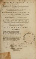 view Tentamen inaugurale, de sanitate ad longaevitatem tuenda ... / [James Prossor].