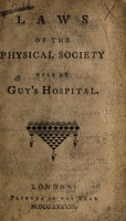 view Laws of the Physical Society held at Guy's Hospital.