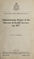 view Administration report of the Director of Health Services / [Ceylon].