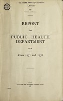 view Report of the Public Health Department / Western Australia.