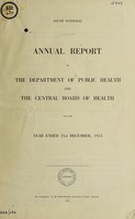 view Annual report of the Department of Public Health and the Central Board of Health / South Australia.