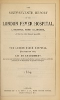 view Report of the London Fever Hospital, Liverpool Road, Islington, for the year ending 31st December 1868.