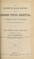 view Report of the London Fever Hospital, Liverpool Road, Islington, for the year ending 31st December 1874.