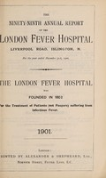 view Report of the London Fever Hospital, Liverpool Road, Islington, for the year ending 31st December 1900.