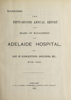 view Annual report of the Board of Management of Adelaide Hospital with a list of subscriptions, donations, etc : 1921.